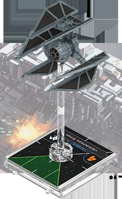 Figurine du vaisseau Défenseur TIE/d
