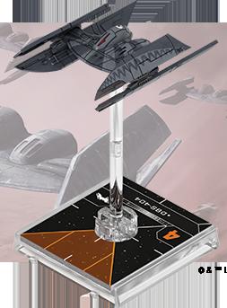 Figurine du vaisseau Bombardier Droïde de classe Hyena