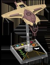 Figurine du vaisseau Chasseur M12-L Kimogila
