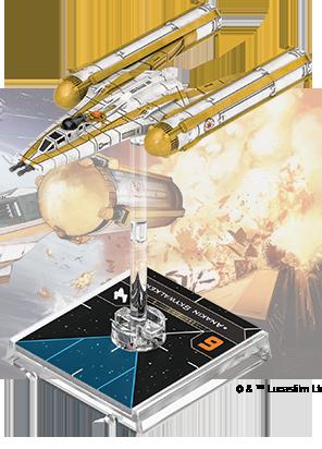 Figurine du vaisseau Y-wing BTL-B