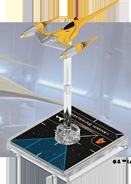 Figurine du vaisseau Chasseur Royal Naboo N-1