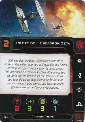 carte du pilote Pilote de l'Escadron Zeta