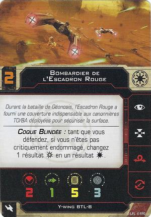 carte du pilote Bombardier de l'Escadron Rouge