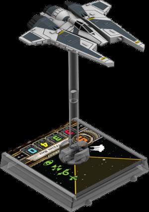 Figurine du vaisseau Chasseur stellaire du Protectorat