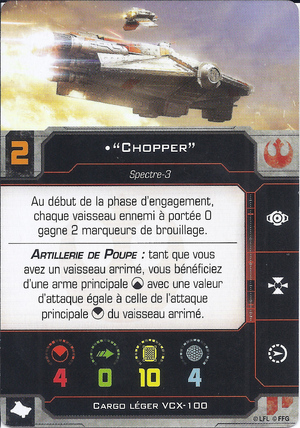 """carte du pilote """"Chopper"""""""