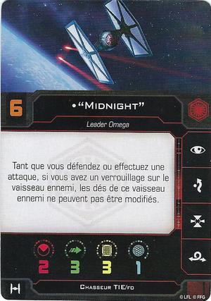 "carte du pilote ""Midnight"""