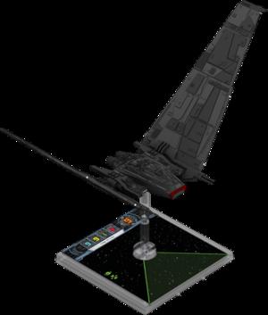 Figurine du vaisseau Navette de commandement de classe Upsilon 1re édition