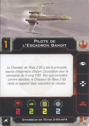carte du pilote Pilote de l'Escadron Bandit