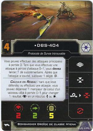 carte du pilote DBS-404