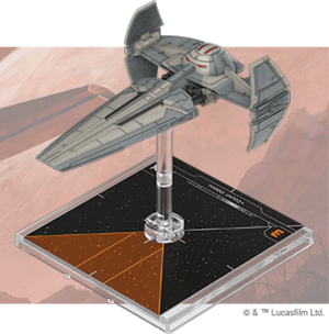 Figurine du vaisseau Infiltrateur Sith