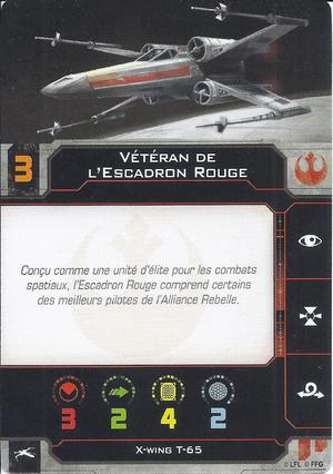 carte du pilote Vétéran de l'Escadron Rouge