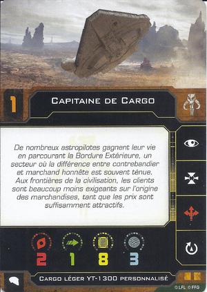 carte du pilote Capitaine de Cargo