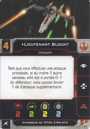 carte du pilote Lieutenant Blount