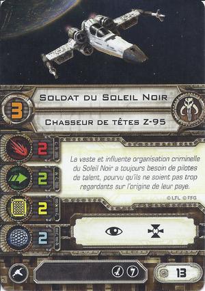 carte du pilote Soldat du Soleil Noir