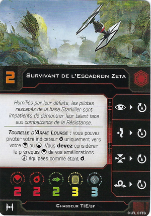 carte du pilote Survivant de l'Escadron Zeta