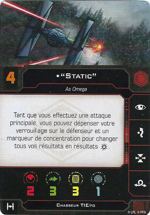 """carte du pilote """"Static"""""""