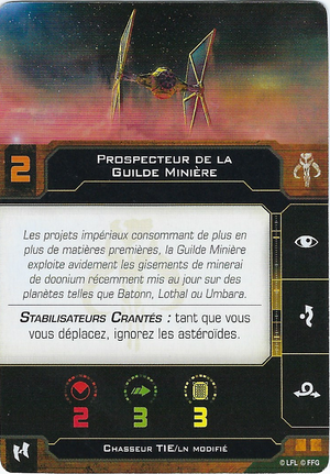 carte du pilote Prospecteur de la Guilde Minière