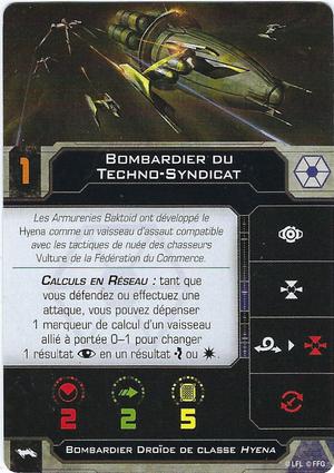 carte du pilote Bombardier du Techno-Syndicat