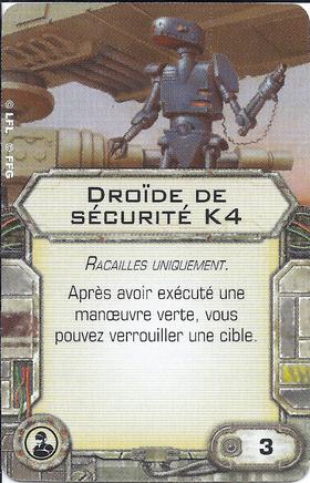 Carte d'amélioration Droïde de sécurité K4