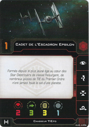 carte du pilote Cadet de l'Escadron Epsilon