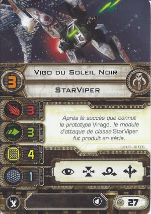 carte du pilote Vigo du Soleil Noir
