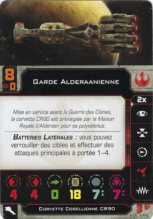 carte du pilote Garde Alderaanienne