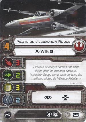 carte du pilote Pilote de l'escadron Rouge