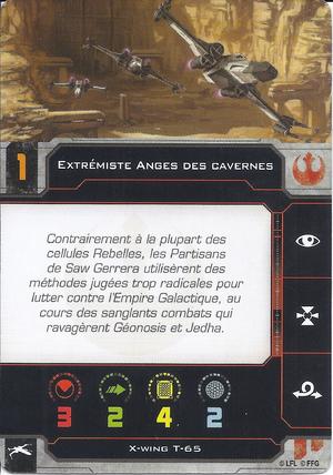 carte du pilote Extrémiste Anges des cavernes