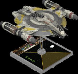 Figurine du vaisseau Appareil de poursuite de classe Lancer