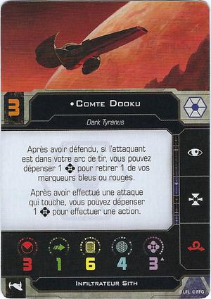 carte du pilote Comte Dooku