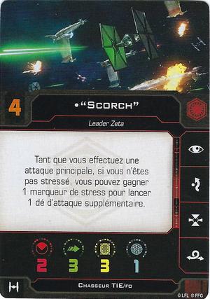 """carte du pilote """"Scorch"""""""