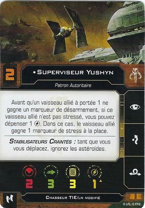 carte du pilote Superviseur Yushyn