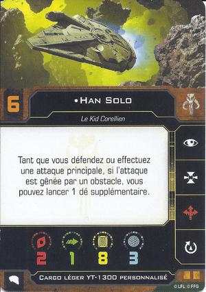 carte du pilote Han Solo