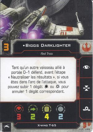 carte du pilote Biggs Darklighter