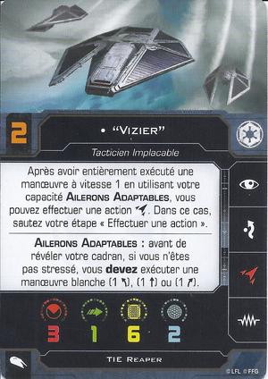 """carte du pilote """"Vizier"""""""