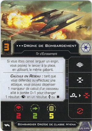 carte du pilote Drone de Bombardement