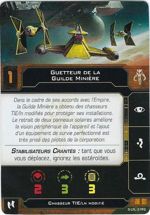 carte du pilote Guetteur de la Guilde Minière