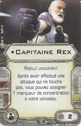Carte d'amélioration • Capitaine Rex