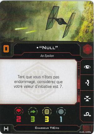 """carte du pilote """"Null"""""""