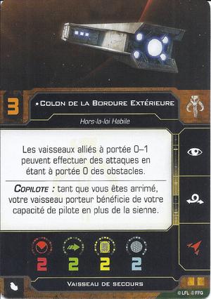 carte du pilote Colon de la Bordure Extérieure