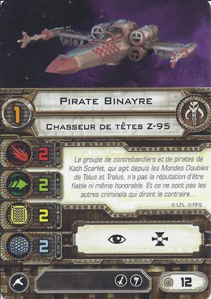 carte du pilote Pirate Binayre