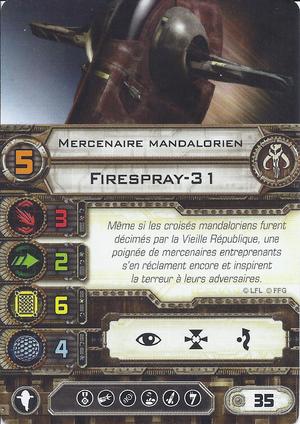 carte du pilote Mercenaire mandalorien