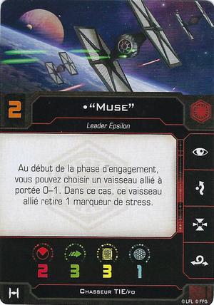 "carte du pilote ""Muse"""
