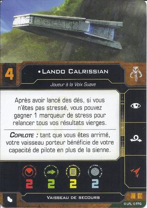 carte du pilote Lando Calrissian
