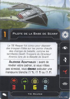 carte du pilote Pilote de la Base de Scarif