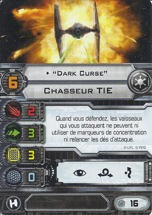 "carte du pilote ""Dark Curse"""